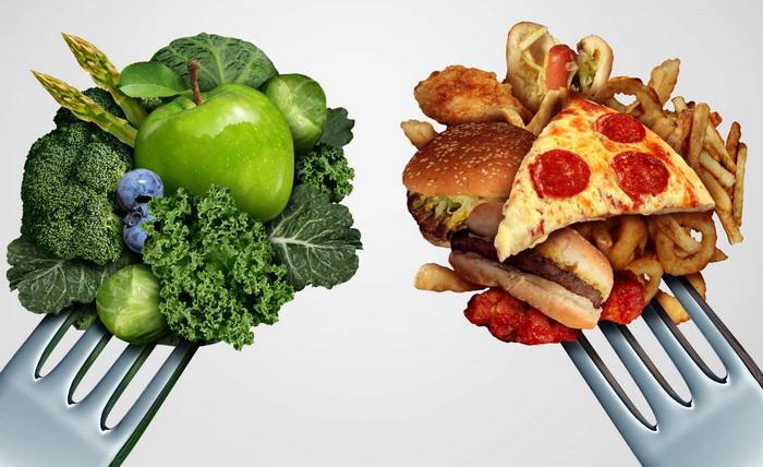 Как составить меню для набора веса
