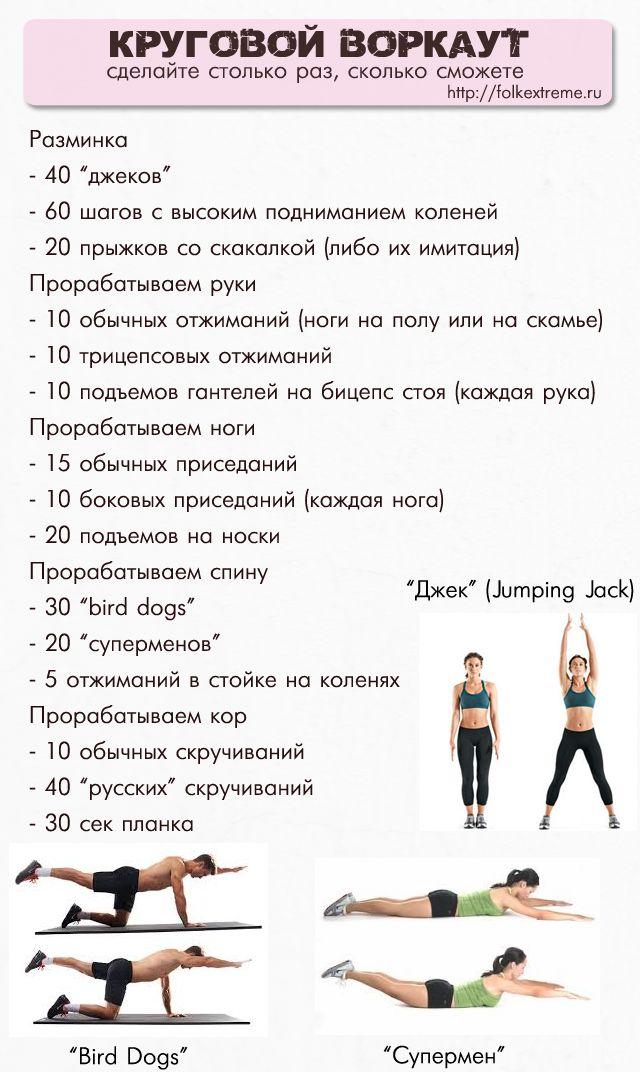 пример тренировки по кроссфиту для женщин