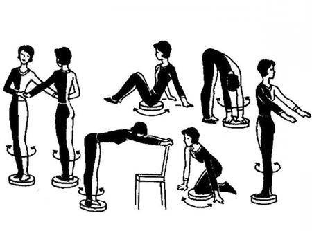 диск здоровья упражнения для похудения в картинках