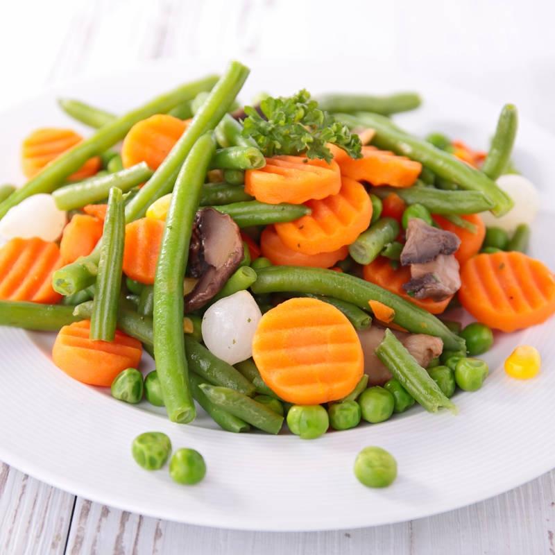 вареные овощи и варианты меню для диеты