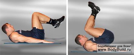 упражнения мужчины бока живот