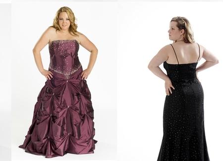 вечерние платья для полных