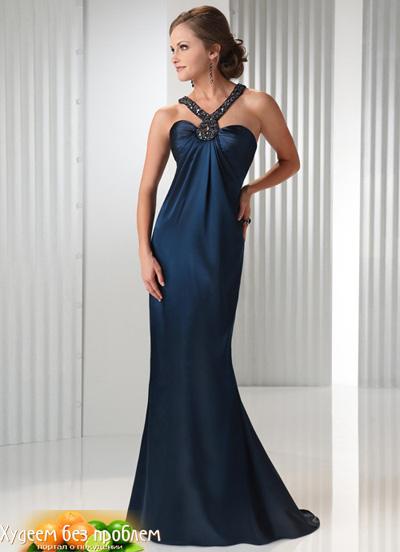 Вечерние платья для худых У высоких и очень худых девушек тоже есть...